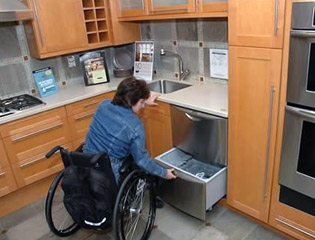 wheelchair accessible kitchen cabinets accessibility modifications and remodeling charles guinn 1243